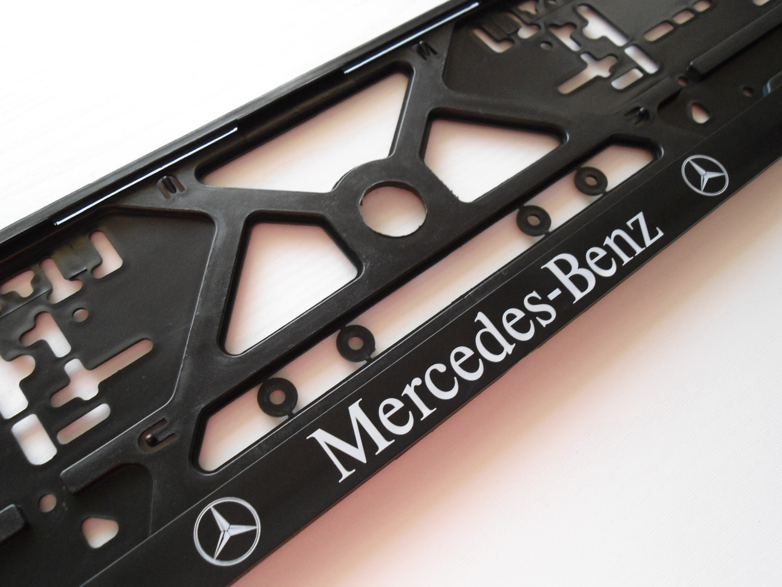 Mercedes benz new number plate frame holder surround for Mercedes benz number plate holder