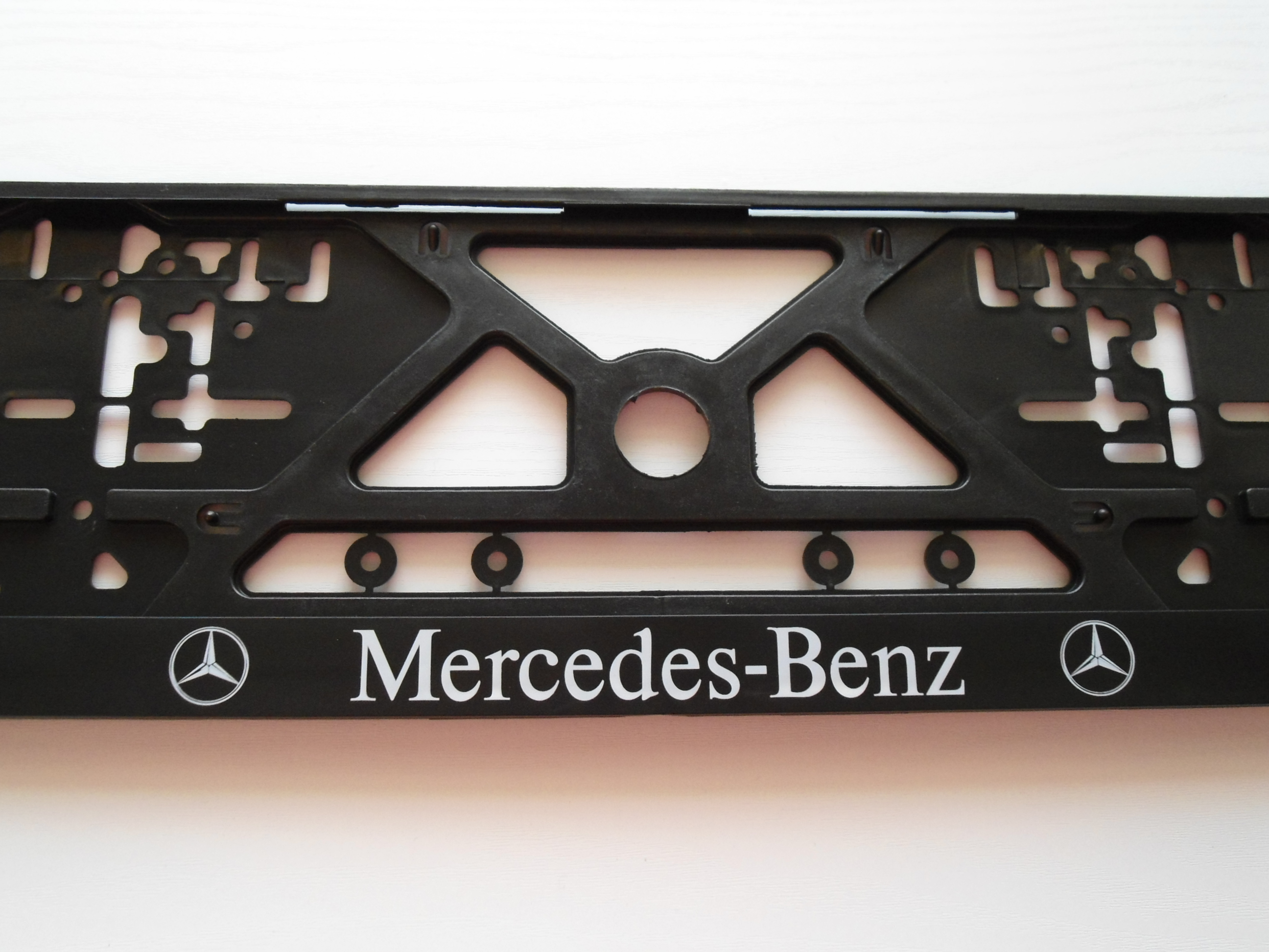 Mercedes benz e ml c s accessories license number plate for Mercedes benz tag screws